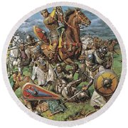 The Coming Of The Conqueror Round Beach Towel