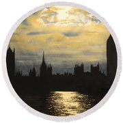 The Commons From South Bank Round Beach Towel