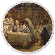 The Communion Of The Apostles Round Beach Towel