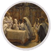 The Communion Of The Apostles Round Beach Towel