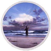 The Conductor Round Beach Towel by Jerry LoFaro