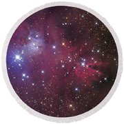 The Cone Nebula Round Beach Towel