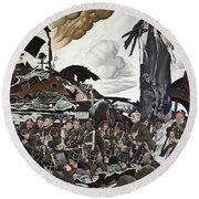 The Conquerors Round Beach Towel
