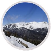 The Continental Divide Round Beach Towel