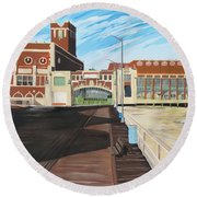 The Convention Hall  Asbury Park  Round Beach Towel
