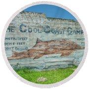 The Cool Coast Camp Round Beach Towel