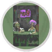 The Corner Bar Round Beach Towel