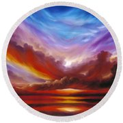 The Cosmic Storm II Round Beach Towel
