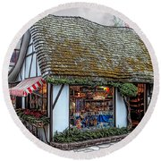 The Cottage Of Sweets - Carmel Round Beach Towel