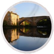 The County Bridge Round Beach Towel