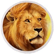 The Courageous Cecil - African Lion Round Beach Towel