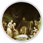 The Court Of Death Round Beach Towel by Rembrandt Peale
