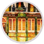 The Court Of Two Sisters On Royal Round Beach Towel