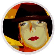 The Cowgirl Round Beach Towel