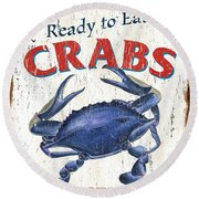 The Crab Shack Round Beach Towel