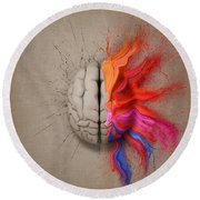 The Creative Brain Round Beach Towel