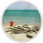 The Creature Round Beach Towel