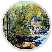 Glade Creek Round Beach Towel