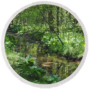 The Creek Round Beach Towel