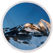 The Crested Butte Round Beach Towel