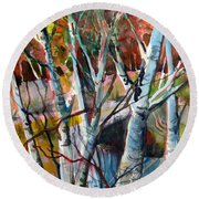 The Cries Of Autumn Round Beach Towel by Mindy Newman