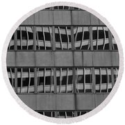 The Crooked House Round Beach Towel by Juergen Weiss