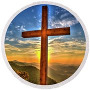 The Cross The Choice Pretty Place Chapel Greenville South Carolina Art Round Beach Towel