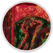 The Cross, The World And Fire - Bgcwf Round Beach Towel