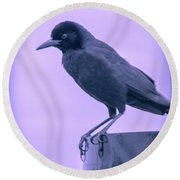 The Crow Round Beach Towel