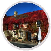 The Crown At Kelston Round Beach Towel