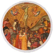 The Crucifixion Round Beach Towel