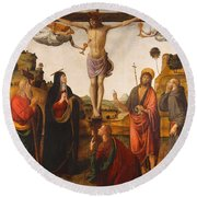 The Crucifixion Round Beach Towel
