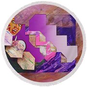 The Cubist Scream Round Beach Towel