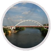 The Cumberland River In Nashville Round Beach Towel