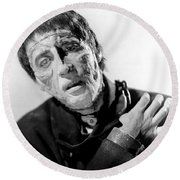 The Curse Of Frankenstein Christopher Lee 1957 Round Beach Towel