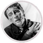 The Curse Of Frankenstein Christopher Lee 1957 Round Beach Towel