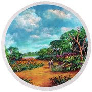 The Cycle Of Life Round Beach Towel