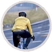 The Cyclist Round Beach Towel