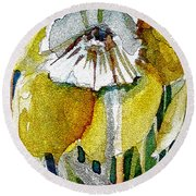 The Daffodil Round Beach Towel