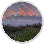 The Daily Disappearing Act Round Beach Towel