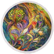 The Dance Of Lilies Round Beach Towel