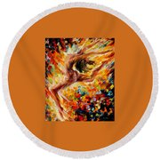 The Dance Of Love Round Beach Towel