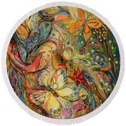 The Dance Of Nature Round Beach Towel