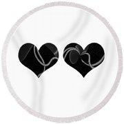 The Dance Of Two Hearts Round Beach Towel