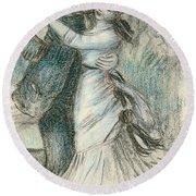 The Dance Round Beach Towel by Pierre Auguste Renoir