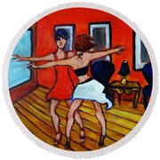 The Dancers Round Beach Towel