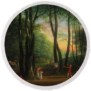 The Dancing Glade At Sorgenfri Round Beach Towel