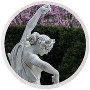 The Dancing Lesson Statue Round Beach Towel