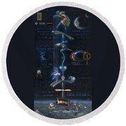 The Danse Macabre Round Beach Towel