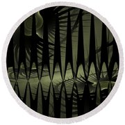 The Dark Forest Round Beach Towel